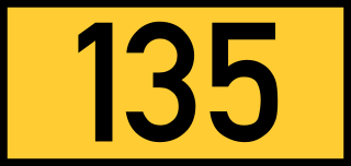 Reichsstraße 135 number.svg by 3247's Image Wizard, on Wikimedia Commons
