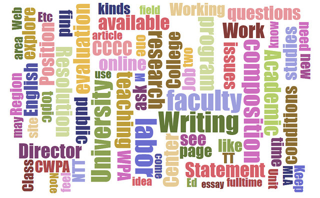 Word Cloud made from the pages of the Labor Resource Center