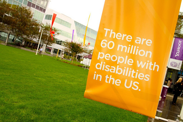 There are 60 million people with disabilities in the US banner by Yahoo! Accessibility Lab on Flickr, used under a CC-BY-SA license