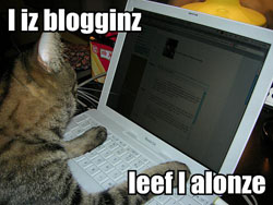 i iz blogginz / leef I alonze