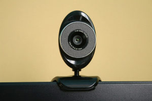 Webcam on a computer monitor