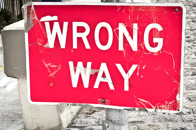 Wrong Way Street Sign